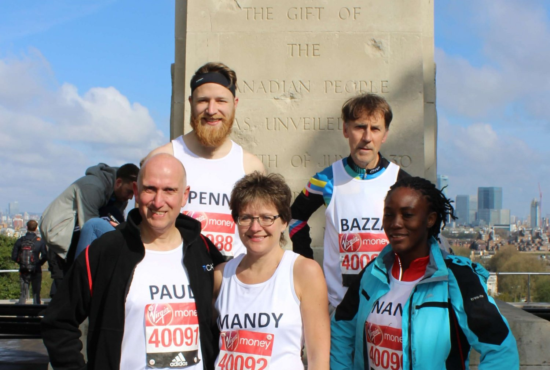 IN Marathon runners